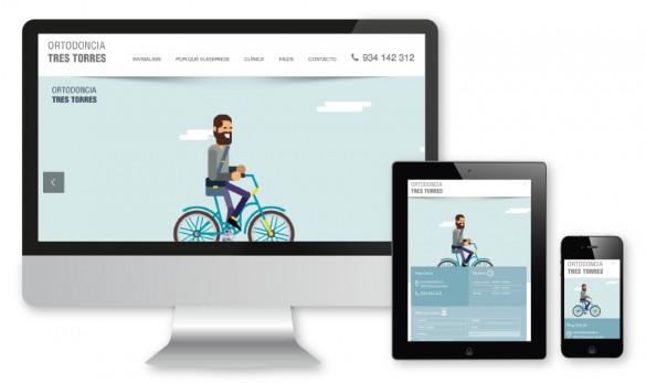Compañía general de ideas-comunicación projects web ortodoncia tres torres ipad