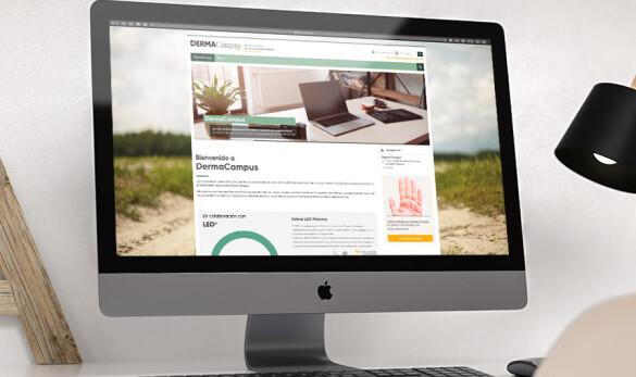 Imatge de la home de la web DermaCampus
