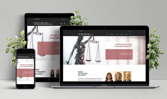 Imatge de la home de la web Torrent Pérez Riba bufet d'advocats Barcelona