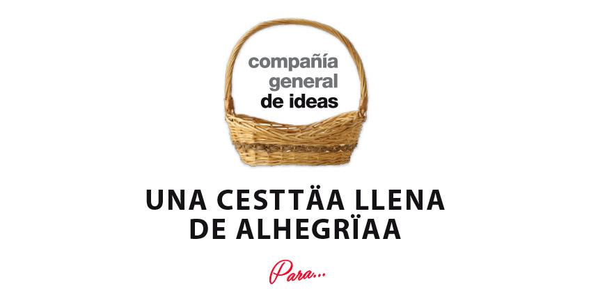 Compañía General de Ideas, agencia de marquetingdigital barcelona, configura tu cesta de Navidad Ideal