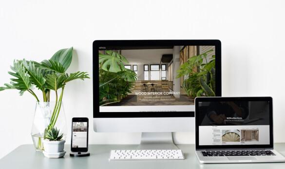 Imagen de la home de Winco, showroom y tienda de parquets en varios dispositivos